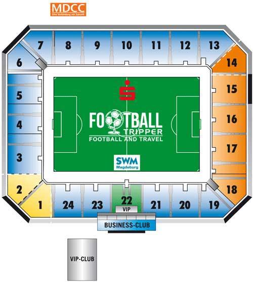 Stadion Magdeburg seating plan