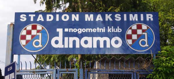 Dinamo Zagreb Entrance Sign
