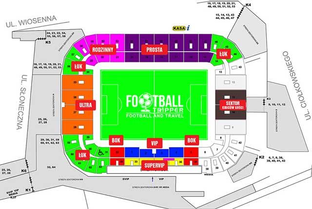 Stadion Miejski Białystok map