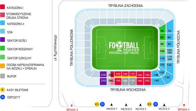 Stadion Miejski map (Bielsko-Biała)
