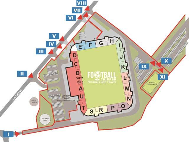 Stadion Miejski w Gliwicach seating plan