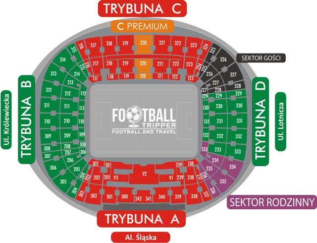 Wroclaw City Stadium seating plan