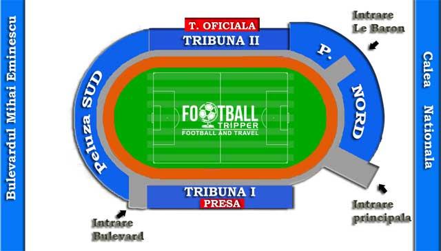 Stadionul Municipal Botoșani seating chart