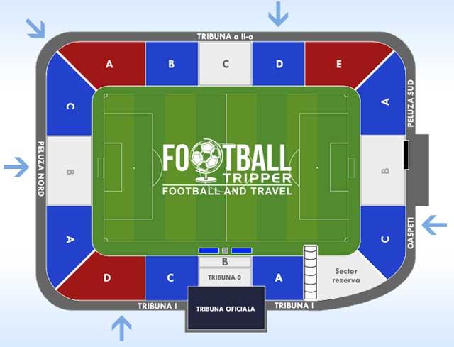 Stadionul Oțelul seating chart