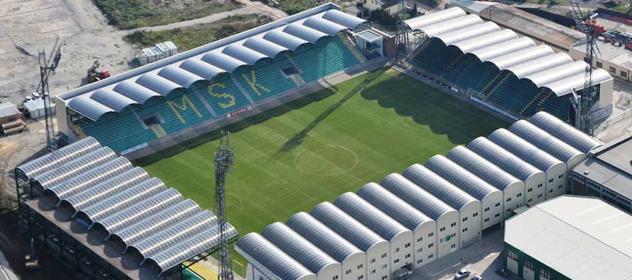 Aerial view of Stadion pod dubnom