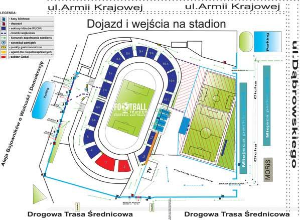Stadion Ruchu Chorzów map