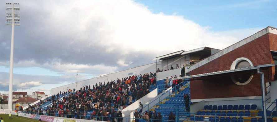 Fans inside Stadion Stanovi