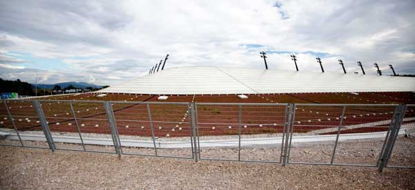Stozice Stadium's roof