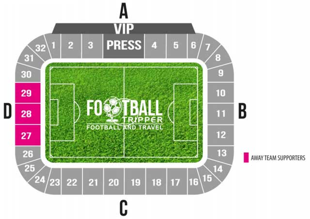 Seating plan for Slovenia's Stadion Stožice