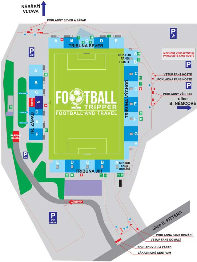 Stadion Střelecký Ostrov map
