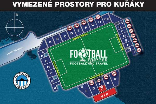 seating map of Stadion u Nisy