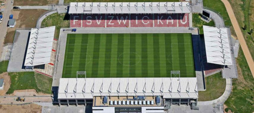 Aerial view of Stadion Zwickau