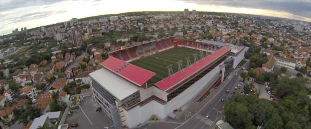 Aerial view of Stadion Vozdovac