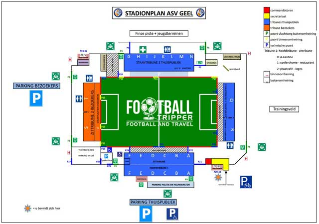 Stade De Leunen seating plan