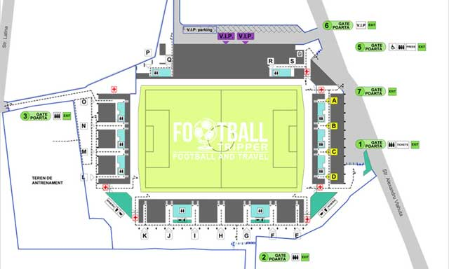Stadionul Ilie Oană seating chart