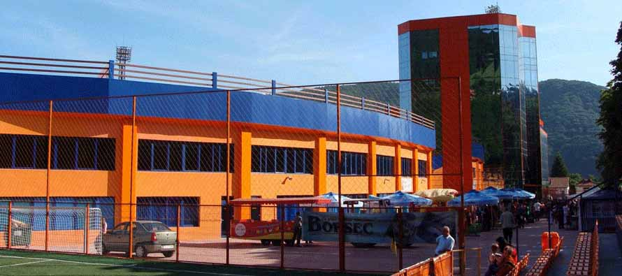 Exterior view of the ornage Stadionul Ceahlaul