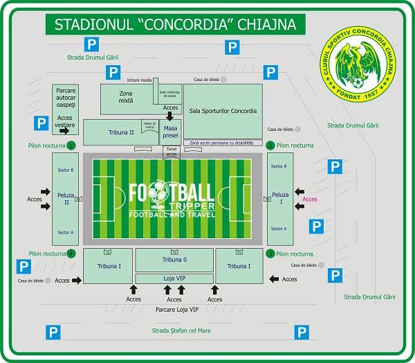 Stadionul Concordia map