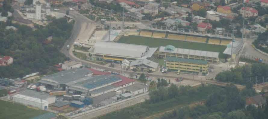Aerial view of Stadionul Concordia