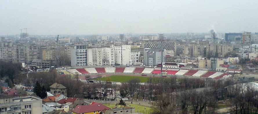 Aerial view of Stadionul Dinamo