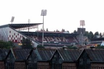Low angle view of Stadionul Dr Constantin Radulescu