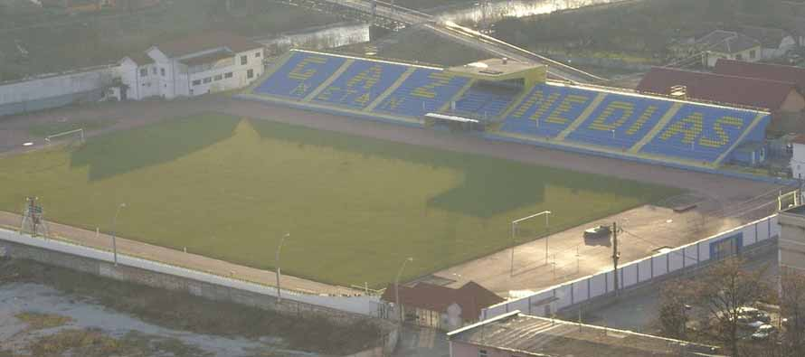 Aerial view of Stadionul Gaz Metan
