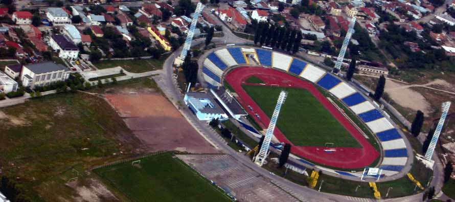 Aerial view of Stadionul ion Oblemenco