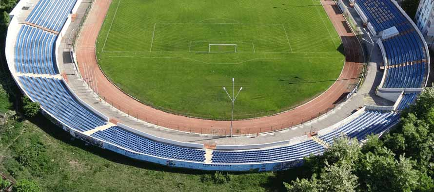 Aerial view of Stadionul Municipal Botosani
