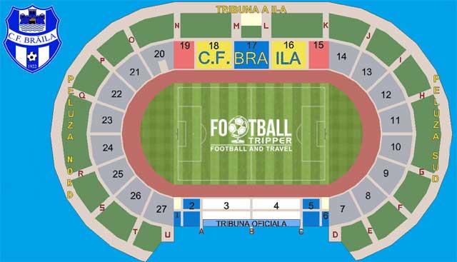 Stadionul Municipal Braila map