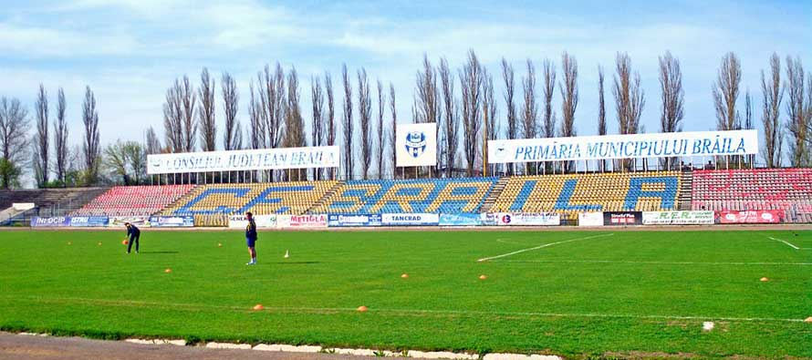 Main stand of Brailia Municipal stadium