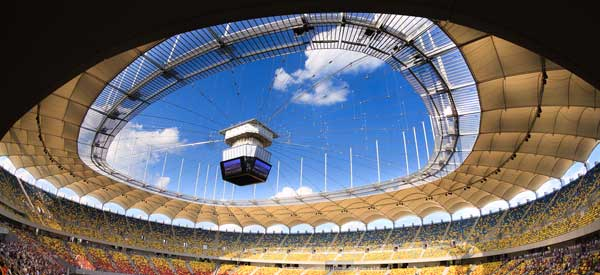 Close up of Arena Nationala Roof