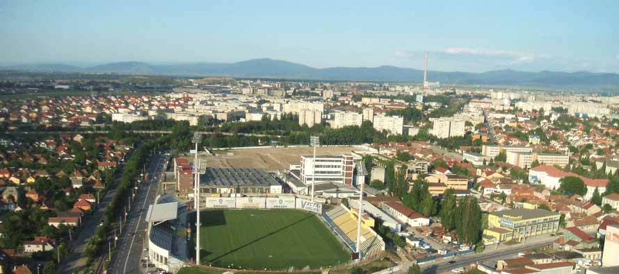 Aerial view of Stadionul Silviu Ploesteanu