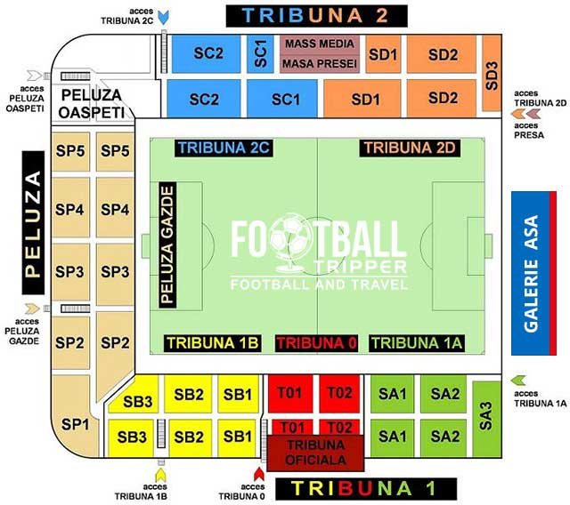 Stadionul Trans-Sil seating plan