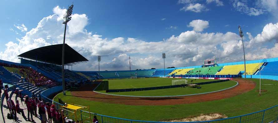 Inside Kanjuruhan Stadium on a sunny day