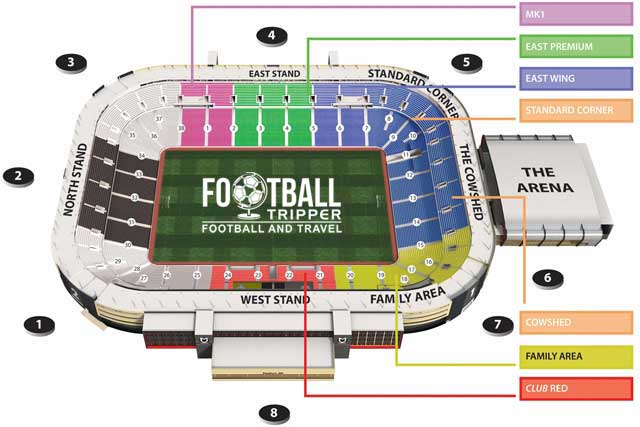 Stadium MK Seating Plan