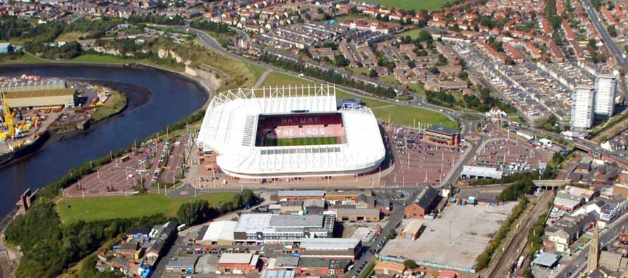 Stadium of light aerial