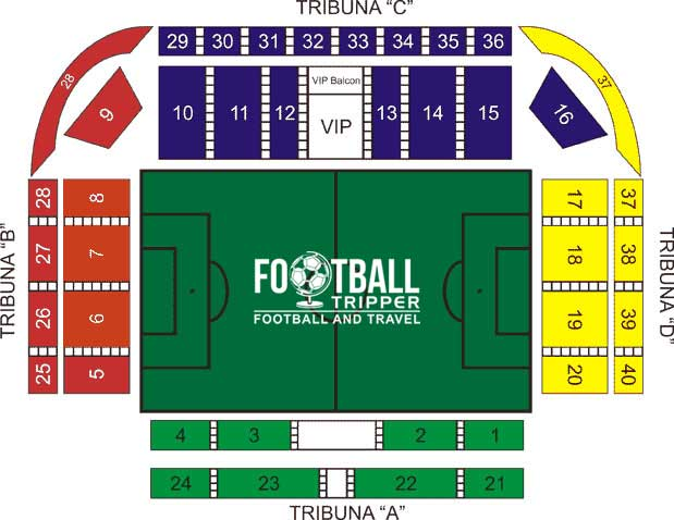 Stadium Zimbru Seating Map