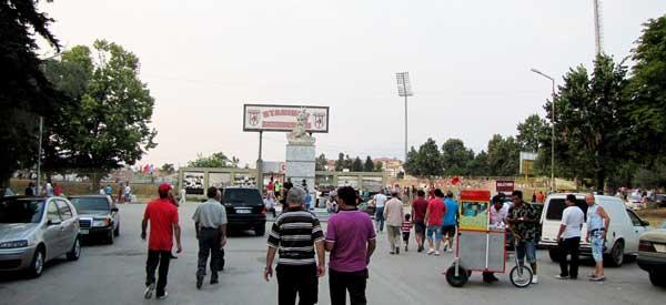 Main entrance of Skenderbeu Stadium