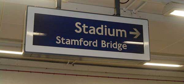 Stamford Bridge Stadium Sign