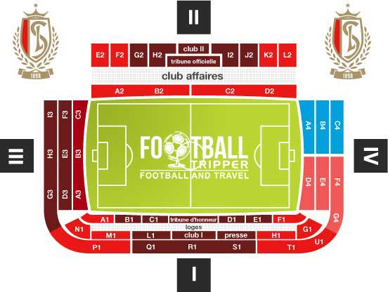 Seating chart for Stade de Sclessin