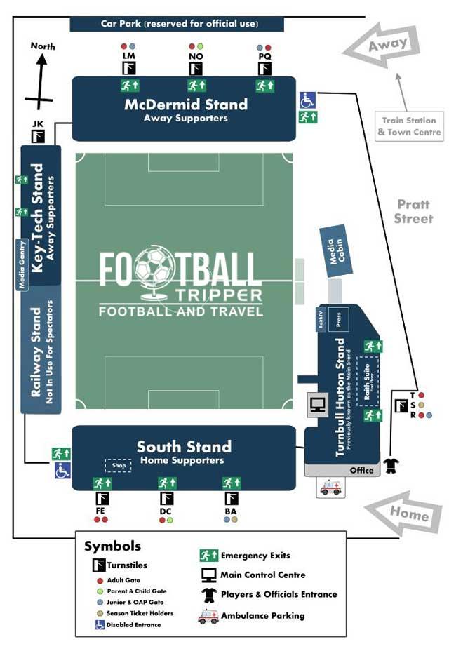 Stark's park stadium map