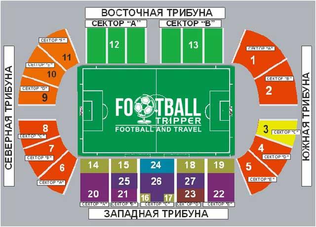 Start Stadion seating chart