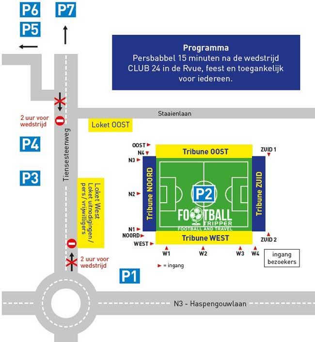 Stayen Stadion access map