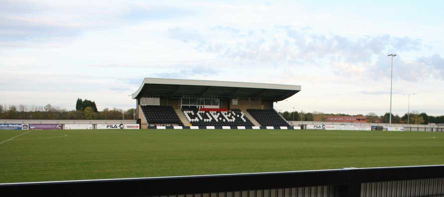 Steel Park's main stand