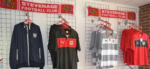 Inside Stevenage Club Shop