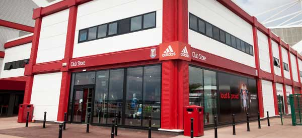 The exterior of Stoke's club shop