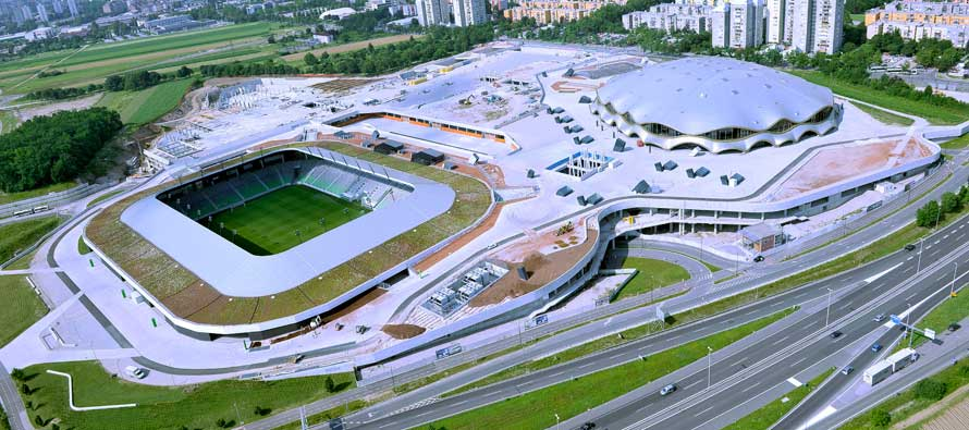 Aerial view of Stozice Stadium