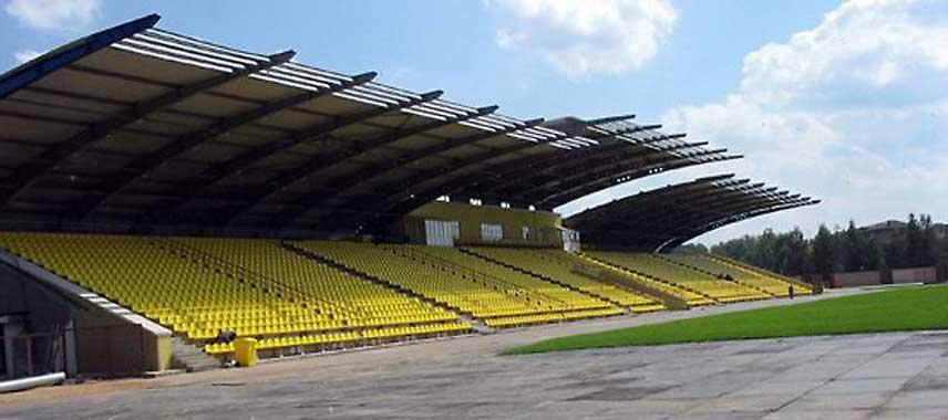 The main stand of Stroitel Stadium
