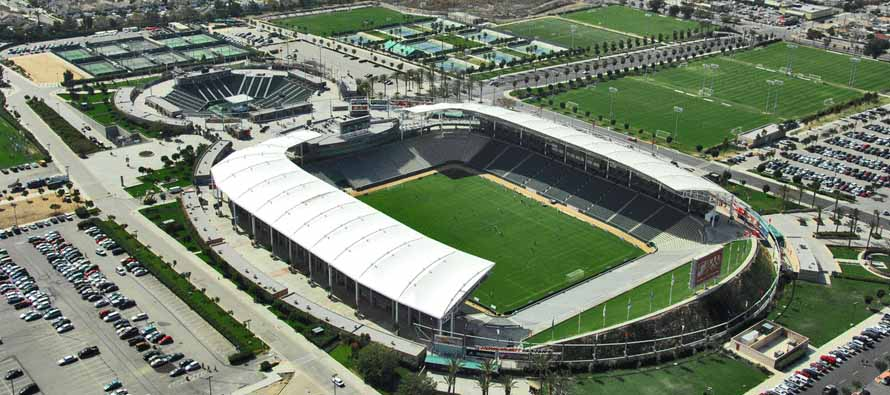 Aerial view of Stubhub Center California