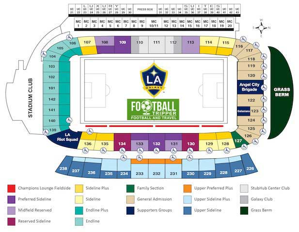 Stubhub cente Seating Plan LA