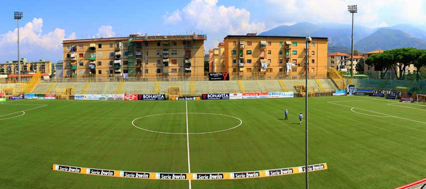 View from the main stand at Stadio Romeo Menti